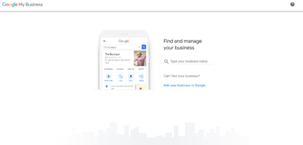Google My Business Sign-up